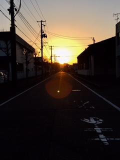 陽が暮れて…